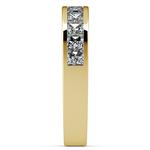 Princess Channel Diamond Wedding Ring in Yellow Gold (1 ctw) | Thumbnail 05