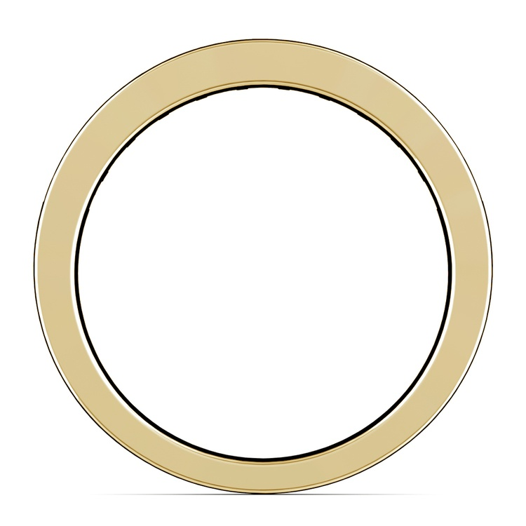 Princess Channel Diamond Wedding Ring in Yellow Gold (1 ctw) | 03