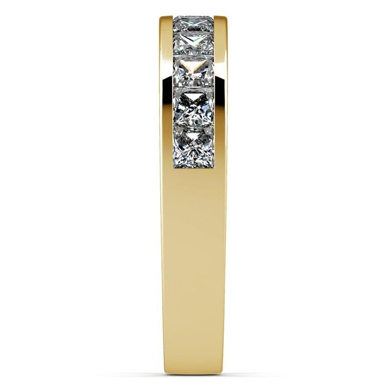 Princess Channel Diamond Wedding Ring in Yellow Gold (1 ctw) | 05