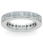 Princess Channel Eternity Ring in Platinum (4 ctw) | Thumbnail 02