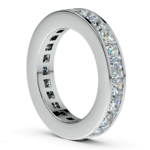 Princess Channel Eternity Ring in Platinum (4 ctw) | Thumbnail 04