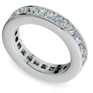 Princess Channel Eternity Ring in Platinum (4 ctw)