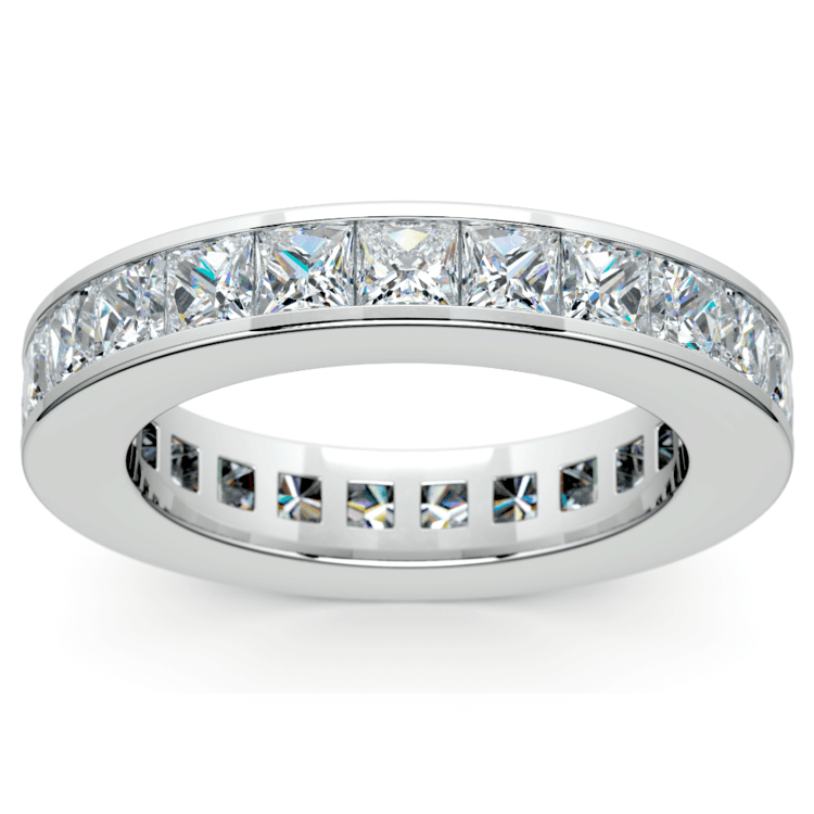 Princess Channel Eternity Ring in Platinum (4 ctw) | 02