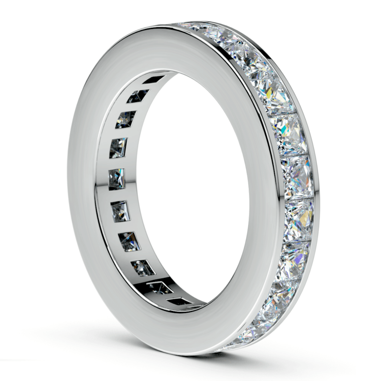 Princess Channel Eternity Ring in Platinum (4 ctw) | 04