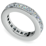 Princess Channel Eternity Ring in White Gold (4 ctw) | Thumbnail 01