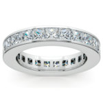 Princess Channel Eternity Ring in White Gold (4 ctw) | Thumbnail 02