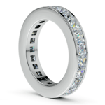 Princess Channel Eternity Ring in White Gold (4 ctw) | Thumbnail 04