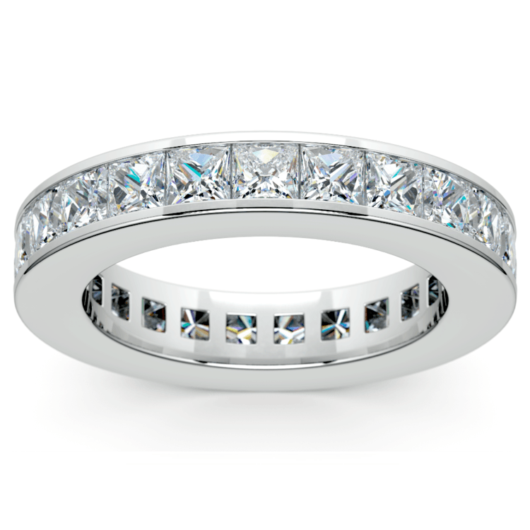 Princess Channel Eternity Ring in White Gold (4 ctw) | 02