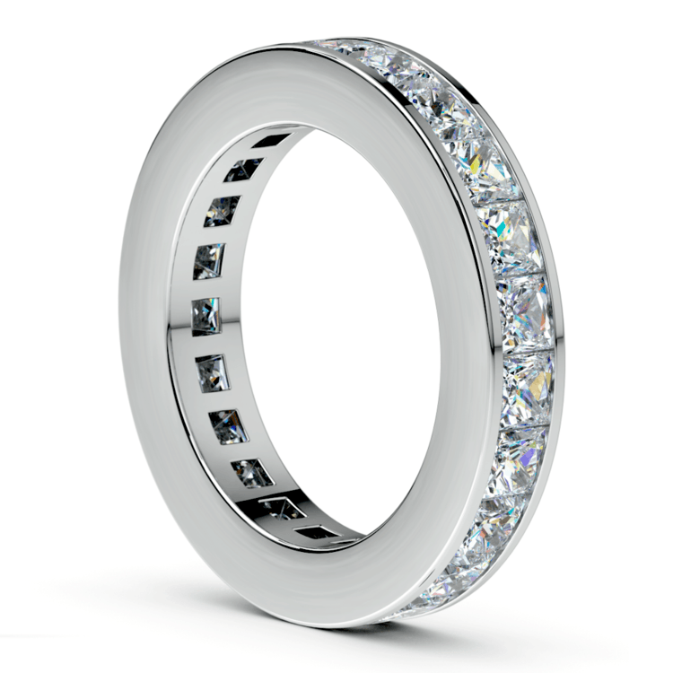 Princess Channel Eternity Ring in White Gold (4 ctw) | 04