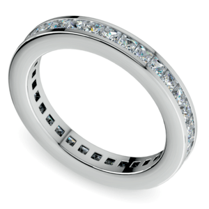 Princess Channel Eternity Ring in Platinum (1 3/4 ctw)