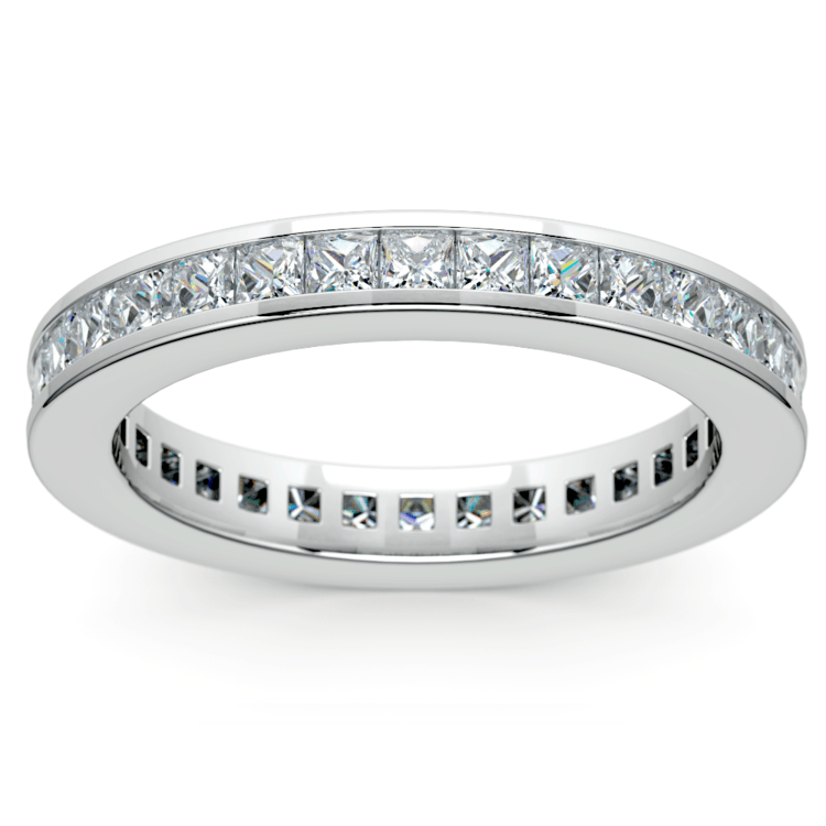 Princess Channel Eternity Ring in Platinum (1 3/4 ctw) | 02