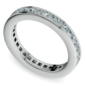Princess Channel Eternity Ring in White Gold (1 3/4 ctw)