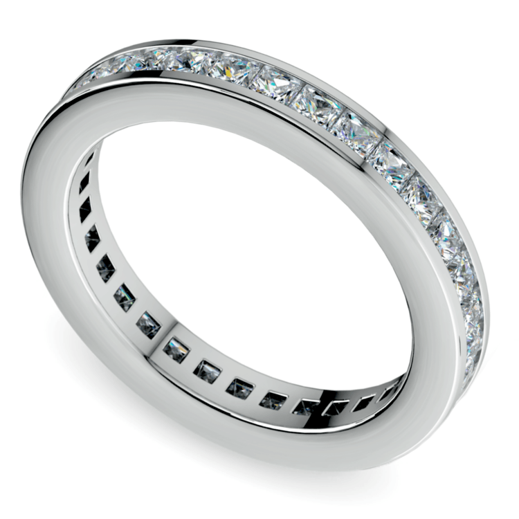 Princess Channel Eternity Ring in White Gold (1 3/4 ctw) | 01