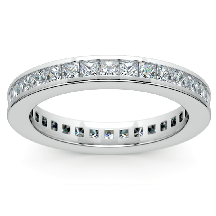 Princess Channel Eternity Ring in White Gold (1 3/4 ctw) | 02