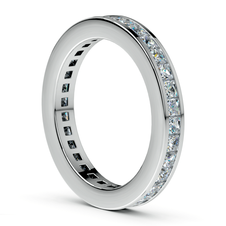 Princess Channel Eternity Ring in White Gold (1 3/4 ctw) | 04