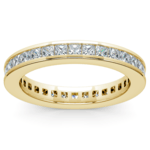 Princess Channel Eternity Ring in Yellow Gold (1 3/4 ctw) | Thumbnail 02