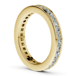 Princess Channel Eternity Ring in Yellow Gold (1 3/4 ctw) | Thumbnail 04