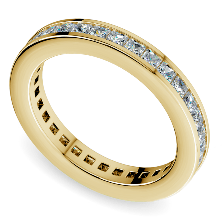 Princess Channel Eternity Ring in Yellow Gold (1 3/4 ctw) | 01