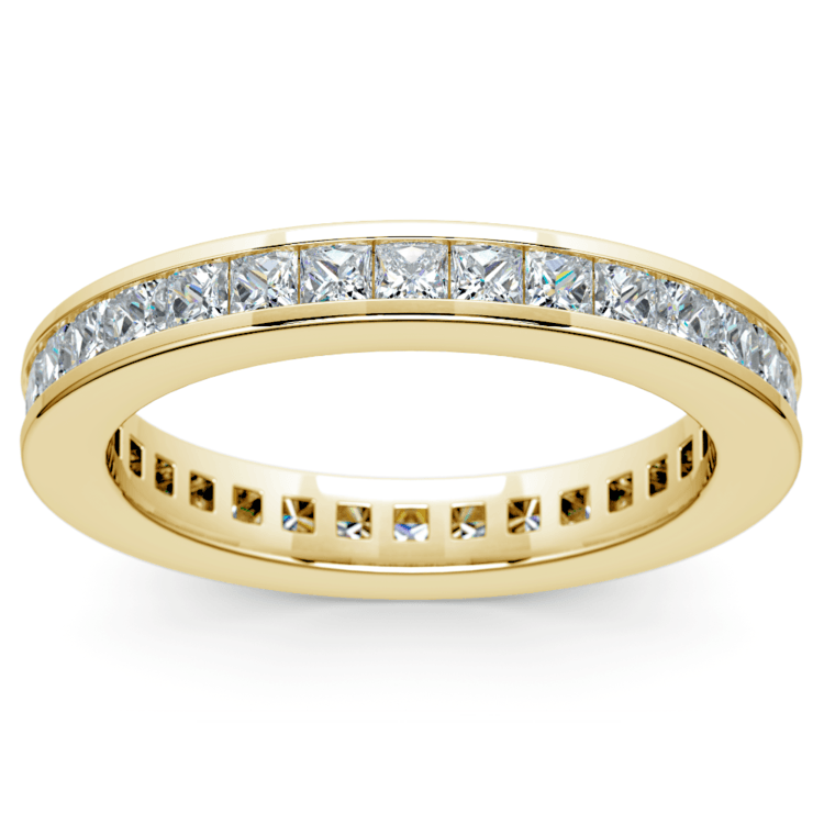 Princess Channel Eternity Ring in Yellow Gold (1 3/4 ctw) | 02