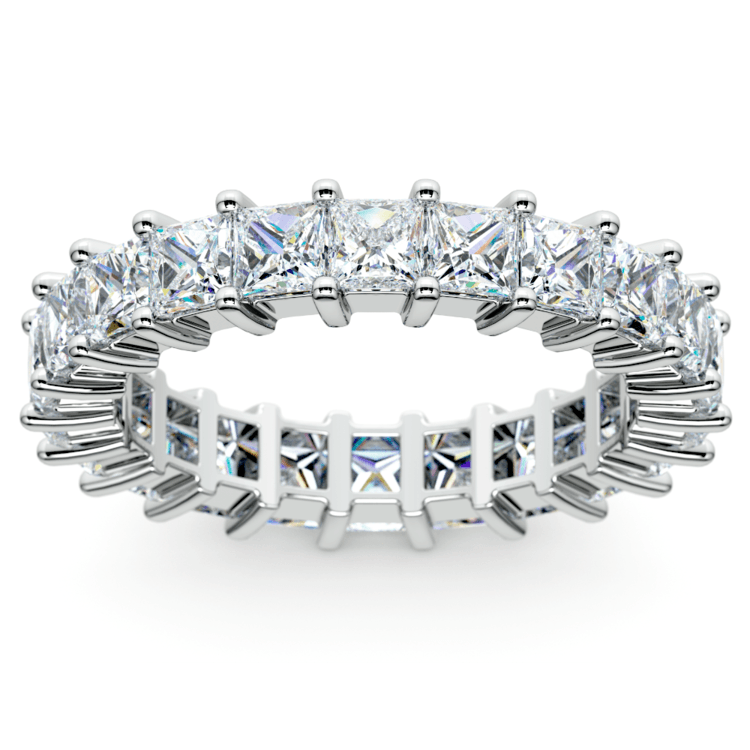 Princess Diamond Eternity Ring in Platinum (3 3/4 ctw) | 02