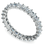 Princess Diamond Eternity Ring in White Gold (1 3/4 ctw) | Thumbnail 01