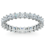 Princess Diamond Eternity Ring in White Gold (1 3/4 ctw) | Thumbnail 02