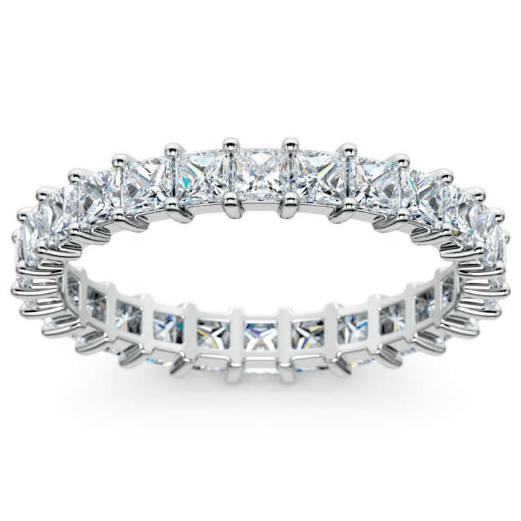 Princess Diamond Eternity Ring in White Gold (1 3/4 ctw) | 02