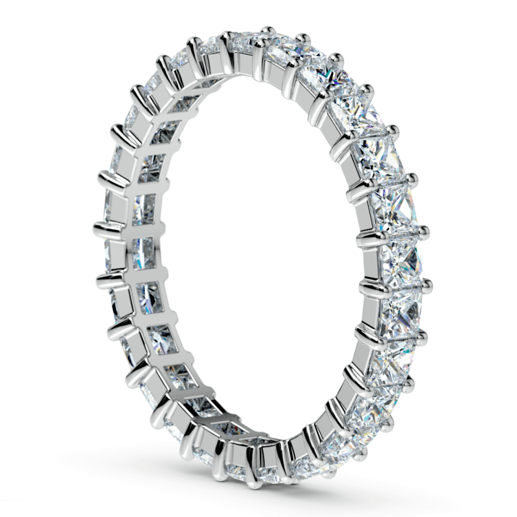 Princess Diamond Eternity Ring in White Gold (1 3/4 ctw) | 04