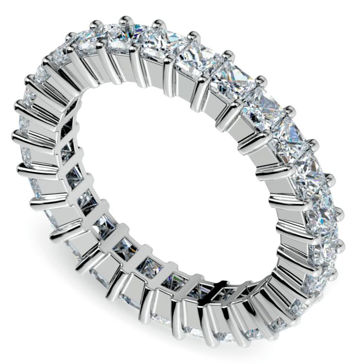 Princess Diamond Eternity Ring in White Gold (2 3/4 ctw) | 01