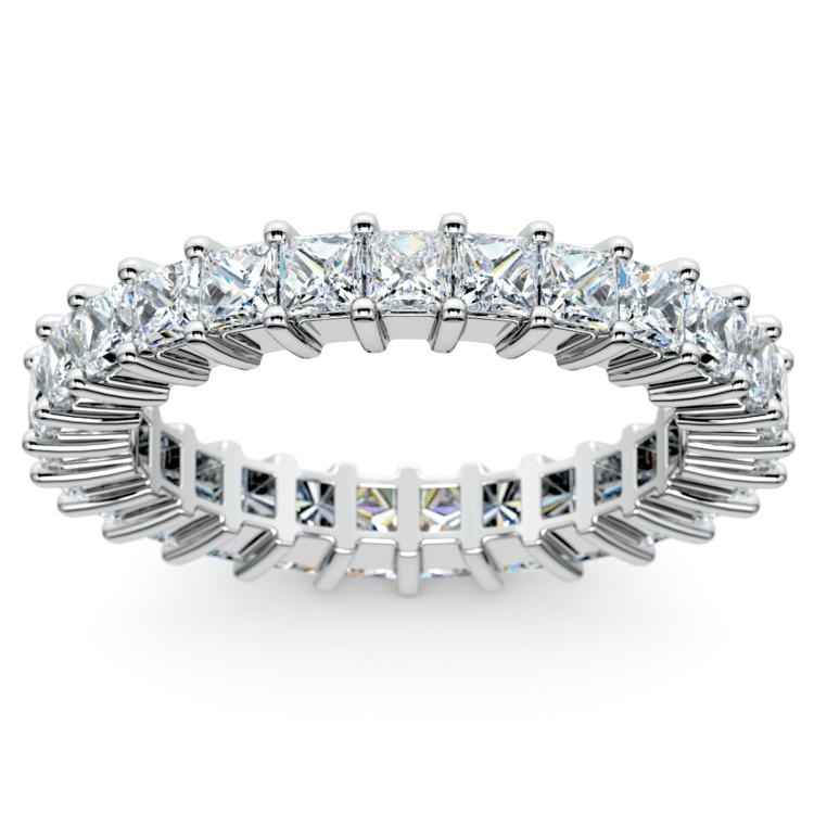 Princess Diamond Eternity Ring in White Gold (2 3/4 ctw) | 02