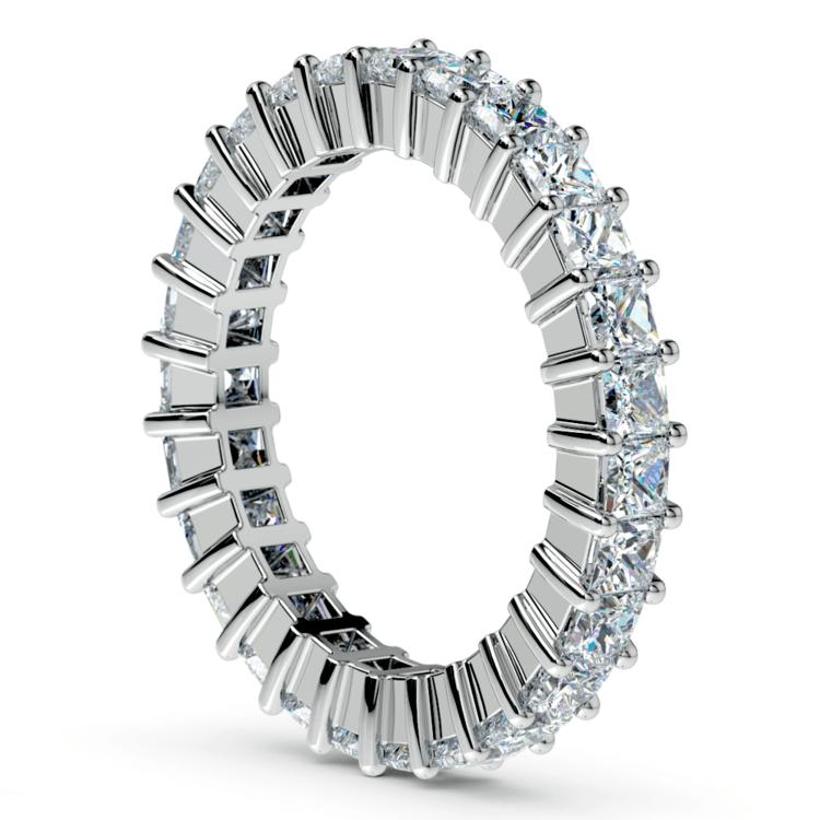 Princess Diamond Eternity Ring in White Gold (2 3/4 ctw) | 04