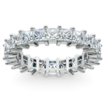 Princess Diamond Eternity Ring in White Gold (3 3/4 ctw) | Thumbnail 02