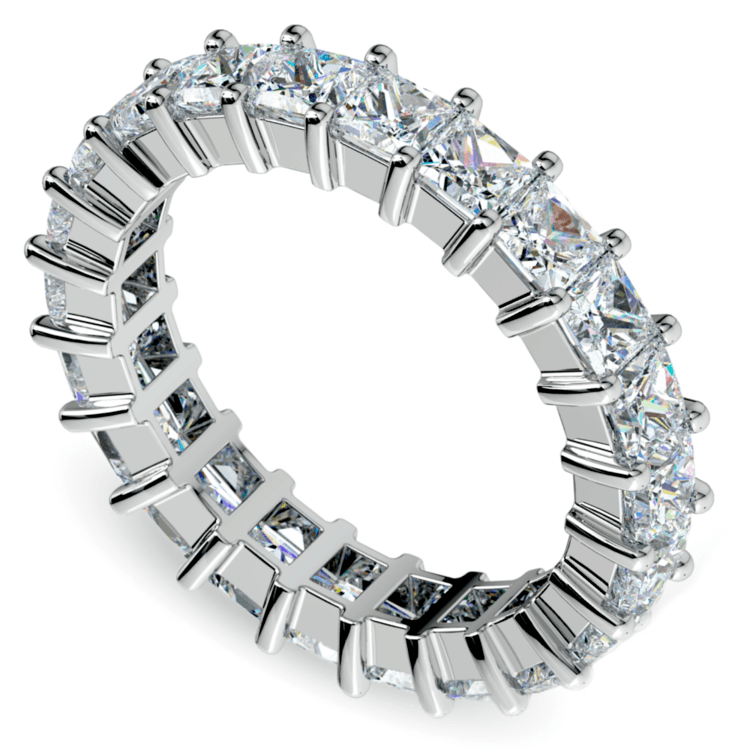 Princess Diamond Eternity Ring in White Gold (3 3/4 ctw) | 01