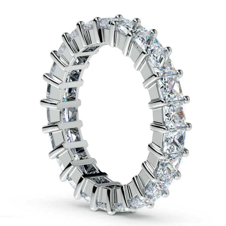 Princess Diamond Eternity Ring in White Gold (3 3/4 ctw) | 04