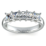 Princess Five Diamond Wedding Ring in Platinum (1 1/2 ctw) | Thumbnail 02