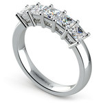 Princess Five Diamond Wedding Ring in Platinum (1 1/2 ctw) | Thumbnail 04