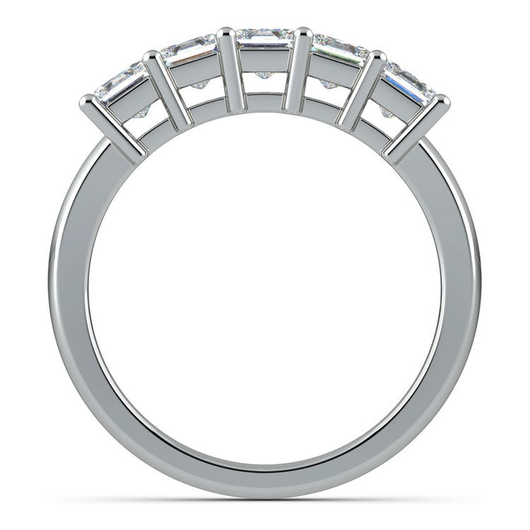 Princess Five Diamond Wedding Ring in Platinum (1 1/2 ctw) | 03