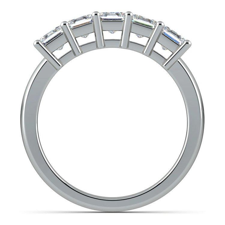 Princess Five Diamond Wedding Ring in White Gold (1 1/2 ctw) | 03