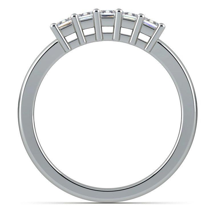 Princess Five Diamond Wedding Ring in Platinum (1/2 ctw) | 03