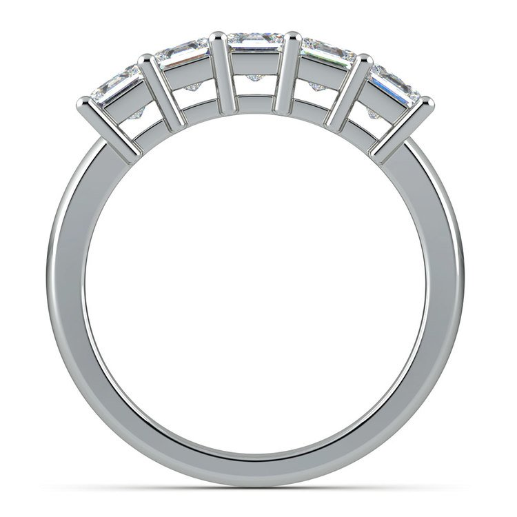Princess Five Diamond Wedding Ring in Platinum (1 ctw) | 03