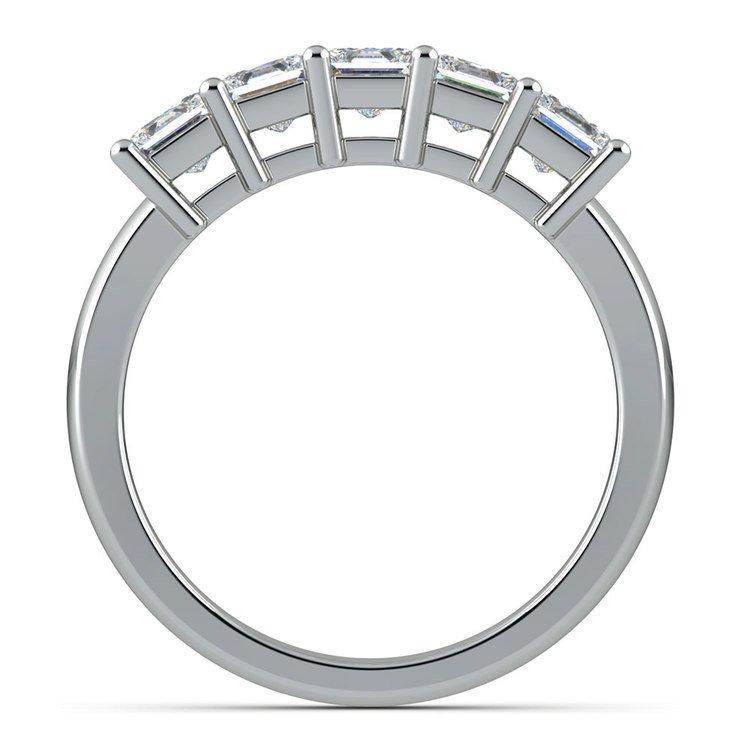 Princess Five Diamond Wedding Ring in White Gold (1 ctw) | 03