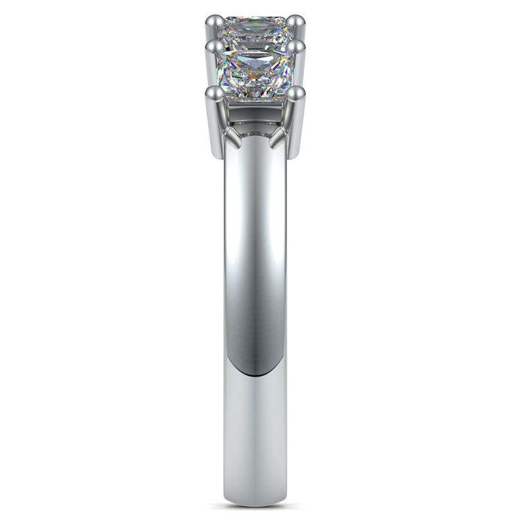 Princess Five Diamond Wedding Ring in White Gold (1 ctw) | 05