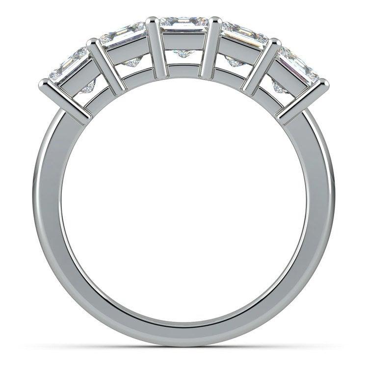 Princess Five Diamond Wedding Ring in White Gold (2 ctw) | 03