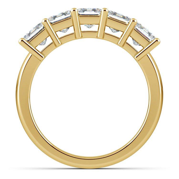 Princess Five Diamond Wedding Ring in Yellow Gold (2 ctw) | 03