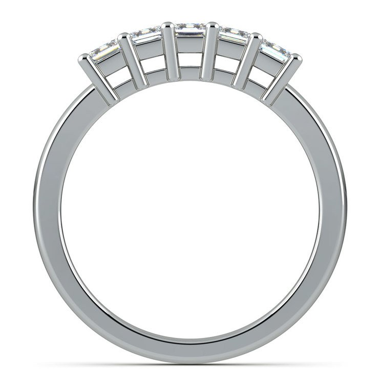 Princess Five Diamond Wedding Ring in White Gold (3/4 ctw) | 03