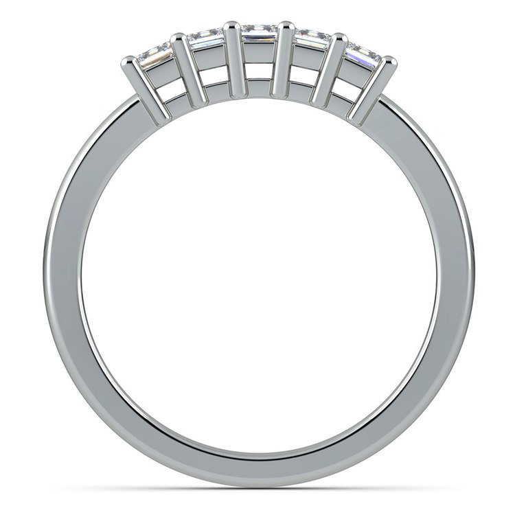 Princess Five Diamond Wedding Ring in White Gold (1/2 ctw) | 03