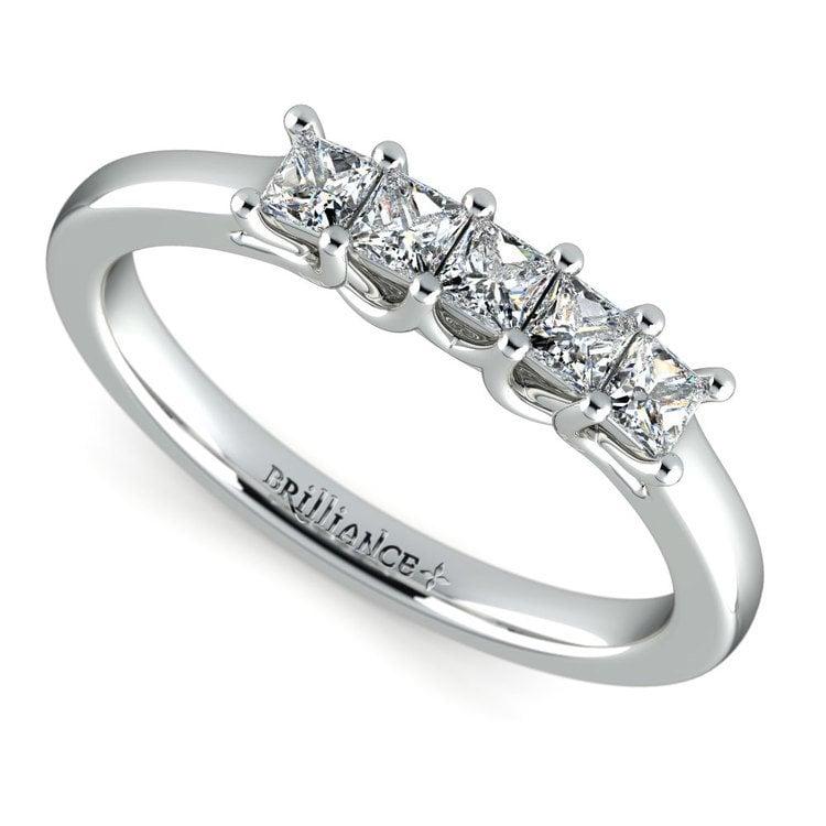 Princess Trellis Diamond Wedding Ring in Platinum (1/2 ctw) | 01