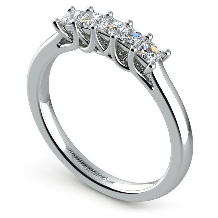 Princess Trellis Diamond Wedding Ring in Platinum (1/2 ctw) | 04