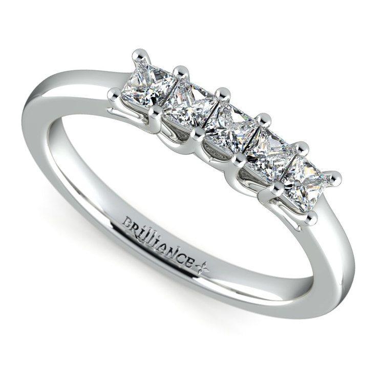 Princess Trellis Diamond Wedding Ring in White Gold (1/2 ctw) | 01