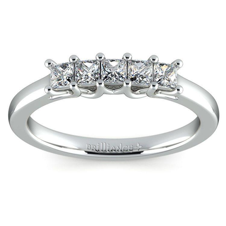 Princess Trellis Diamond Wedding Ring in White Gold (1/2 ctw) | 02